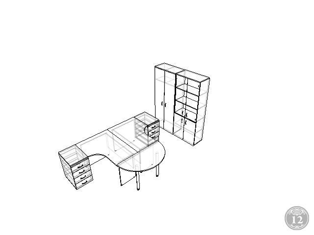 комплект офисной мебели Континент 22 мм