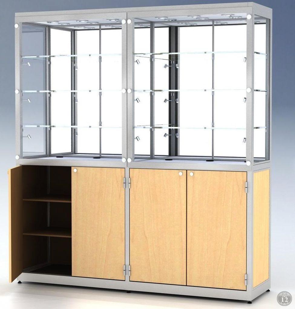 Офисный шкаф со стеклянными дверцами