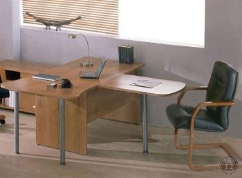 Офисная мебель Континент - надежная простая и для работы - Ламинированная ДСП - толщина столешницы 22 мм боковин 16 мм
