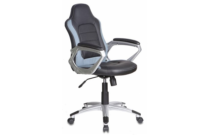 Кресло руководителя Бюрократ CH-825S/Black+Gr