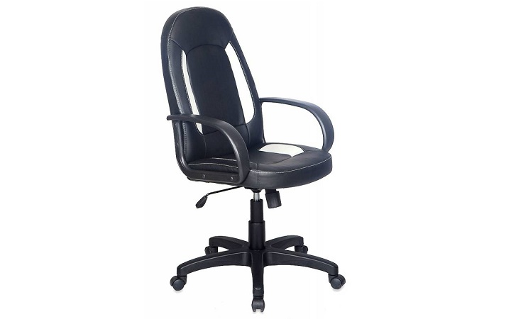 Кресло руководителя Бюрократ CH-826/B+WH