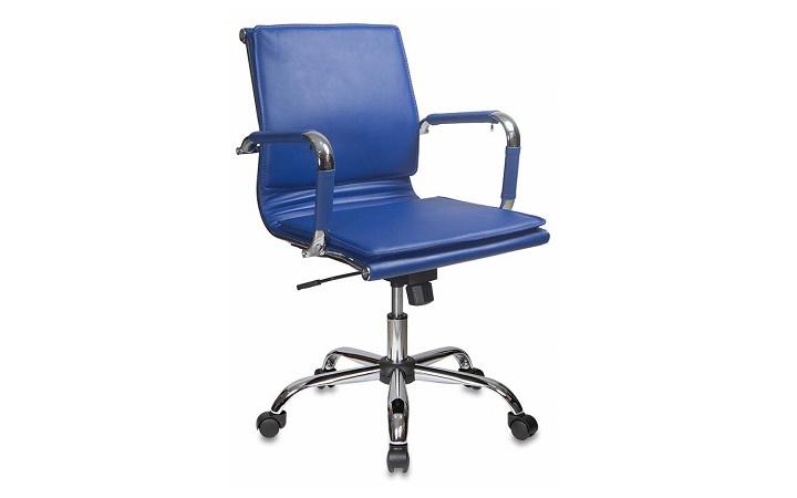 Кресло руководителя Бюрократ CH-993-Low/blue