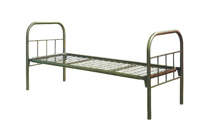Кровать металлическая односпальная КМО-01