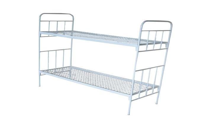 Кровать металлическая двухъярусная КМО-02