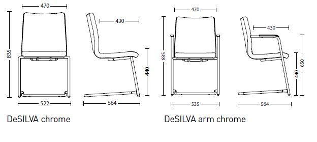 глубина сиденья всех модификаций DeSILVA становится на 30 мм больше и теперь составляет 430 мм