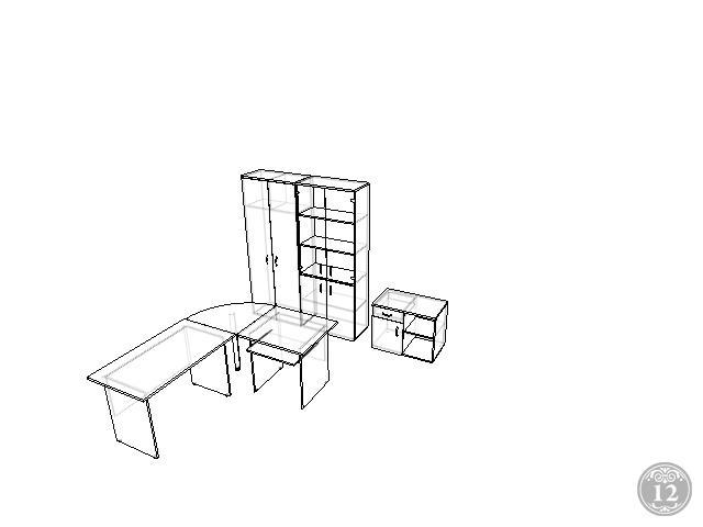 Комплект офисной мебели Континент 6