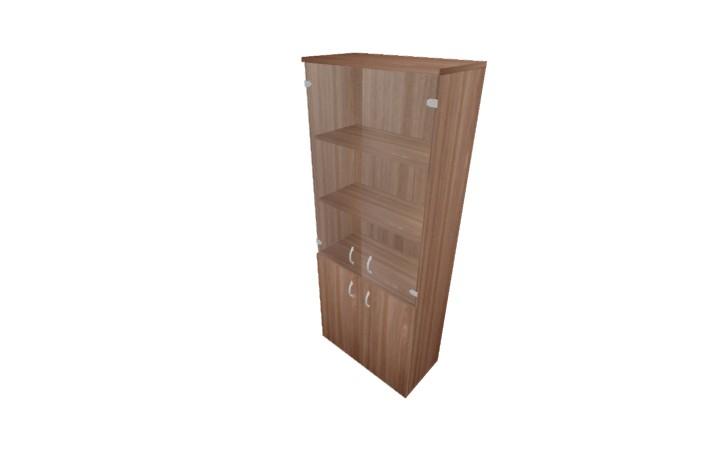 Шкаф полузакрытый со стеклом Континент ЛФ217
