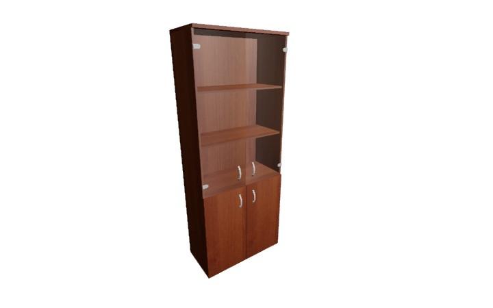 Шкаф со стеклом Оптима Л217