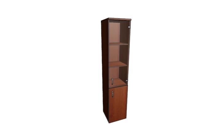 Шкаф узкий полузакрытый со стеклом Континент ЛФ219