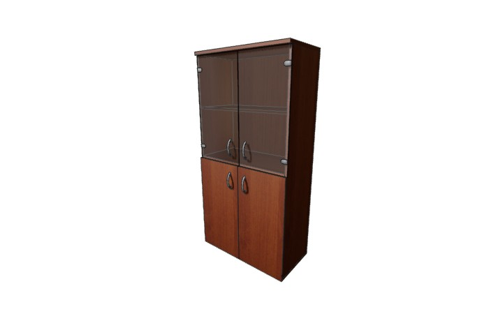 Шкаф низкий полузакрытый со стеклом Континент ЛФ223