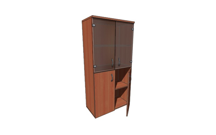 Шкаф низкий со стеклом Оптима Л223