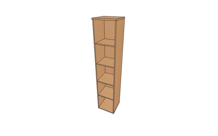 Шкаф узкий открытый Континент ЛФ227