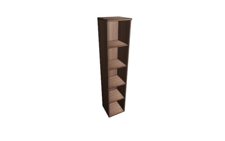 Шкаф узкий открытый Оптима Л227