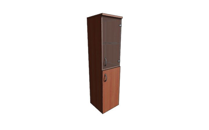 Шкаф узкий низкий со стеклом Оптима Л229