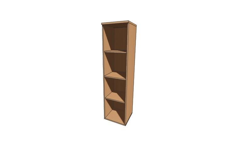 Шкаф узкий низкий открытый Оптима Л231