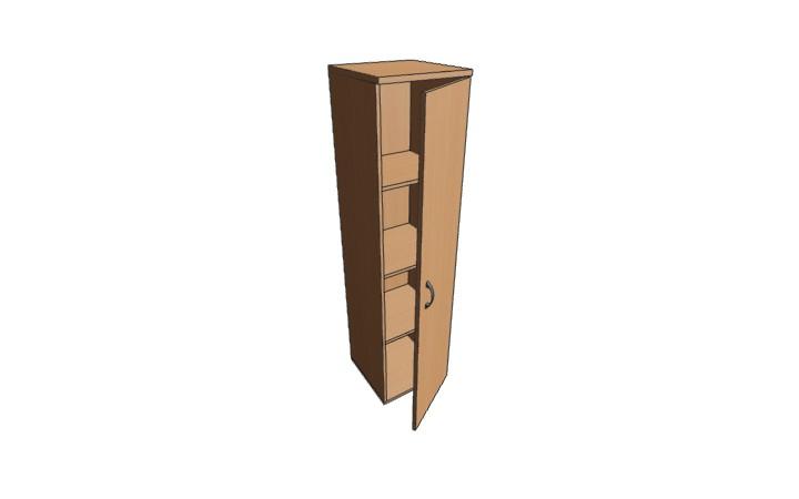 Шкаф низкий узкий закрытый Континент ЛФ232
