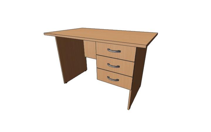 Стол письменный с 3 ящиками Оптима С225