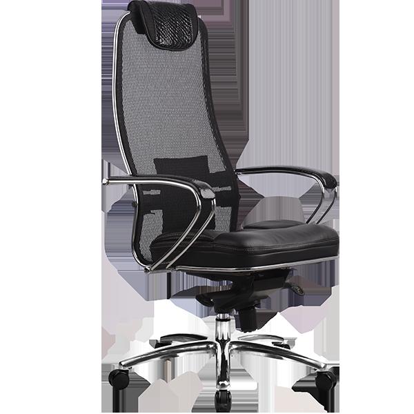 Кресло руководителя Samurai SL-1 Черный PYTHON EDITION
