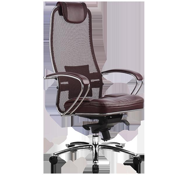 Кресло руководителя Samurai SL-1 темно-бордовый