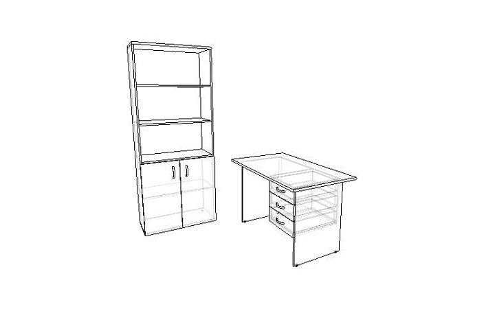 Комплект офисной мебели Оптима 3