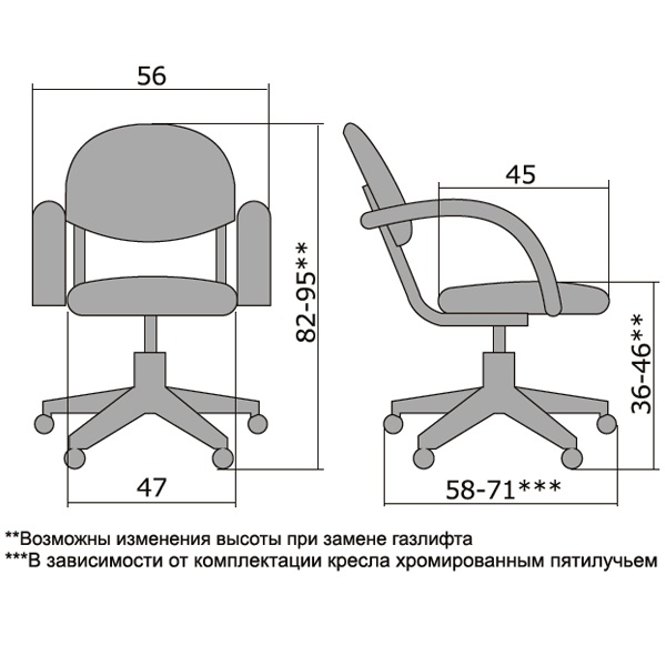Кресло компьютерное Metta MC-71
