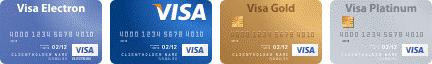 Оплата по банковским картам VISA