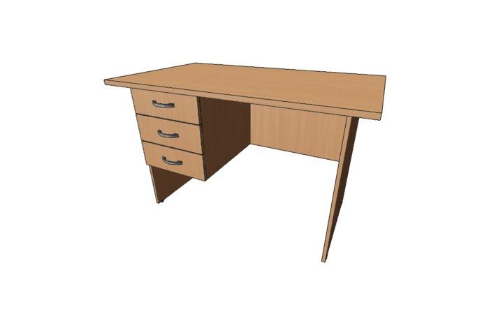 Стол письменный 3 ящ Оптима С215