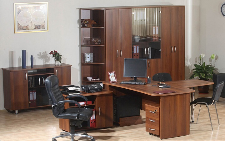 Кабинет руководителя Лидер 5 предметов со шкафом