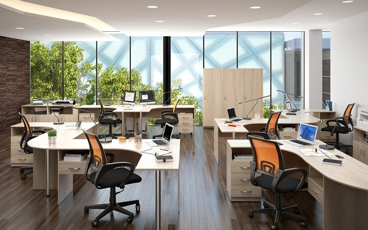 Комплект 35 предметов мебели для персонала Simple