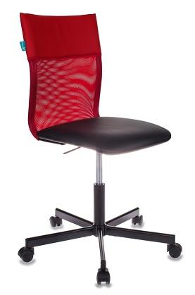 Кресло Бюрократ CH-1399/R+B спинка сетка красный сиденье черный