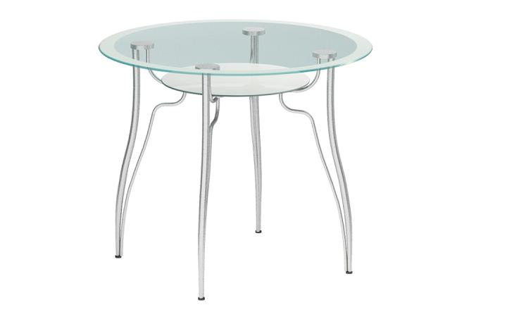 Стол стеклянный Метта Л-1 металлик