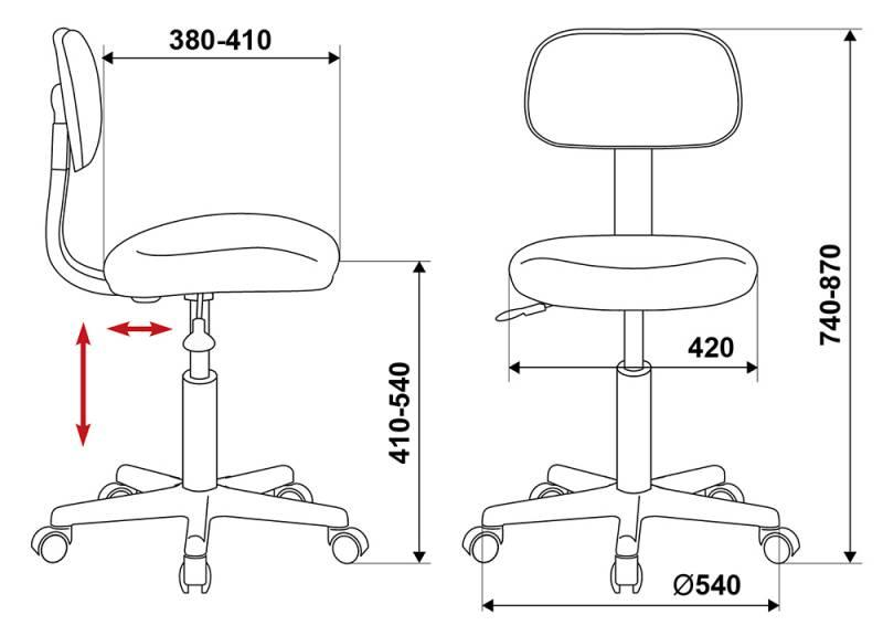 Кресло для оператора Бюрократ CH-1201NX