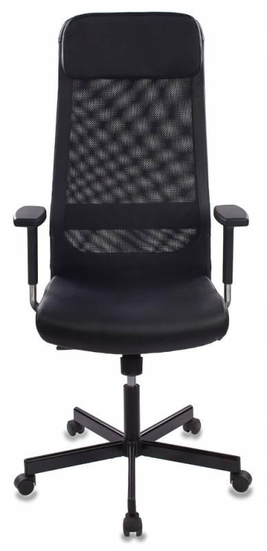 Кресло руководителя Бюрократ T-995/BLACK черный TW-11 искусственная кожа крестовина металл