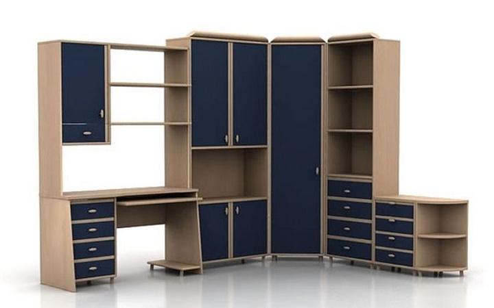 Угловой офисный шкаф - конструктивная необходимость для небольших помещений
