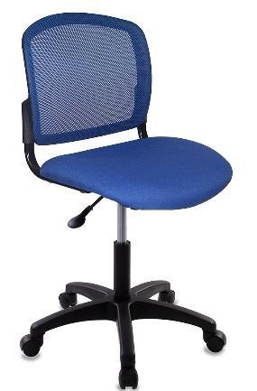 Кресло Бюрократ CH-1296NX/BLUE спинка сетка синий сиденье темно-синий
