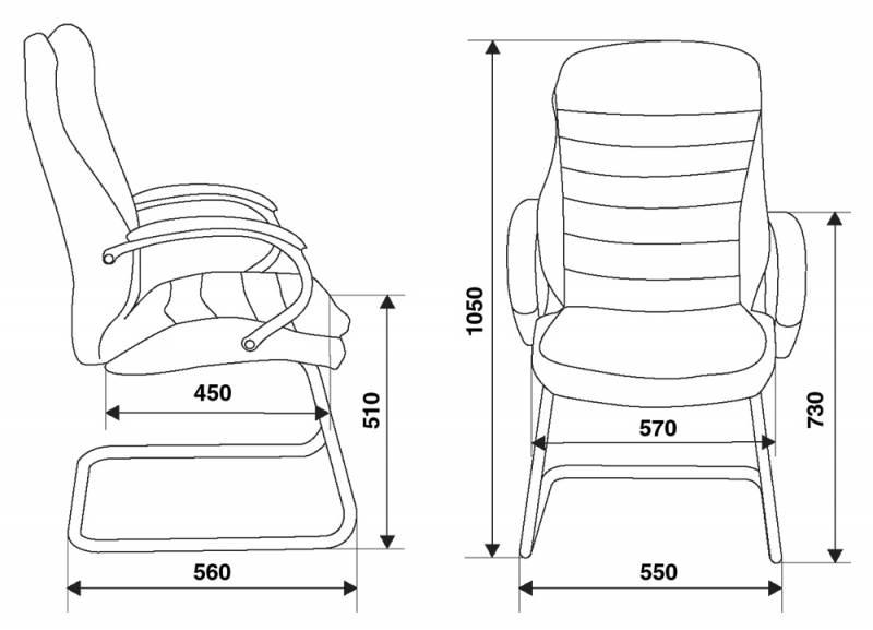 Кресло посетителя Бюрократ T-9950AV