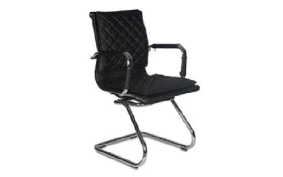 Кресло Бюрократ CH-991-LOW-V/BLACK низкая спинка черный искусственная кожа