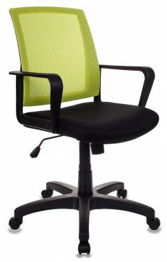 Кресло Бюрократ CH-498/SD/TW-11 спинка сетка салатовый сиденье черный TW-11