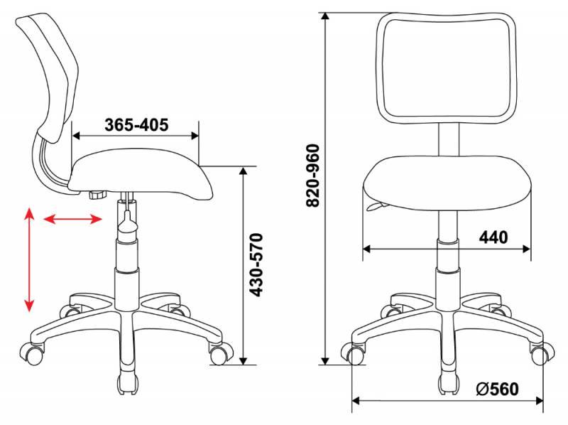 Кресло детское Бюрократ CH-295