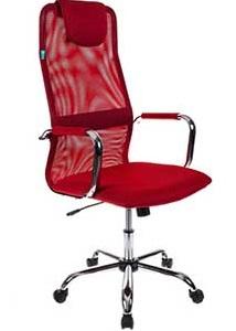 Кресло руководителя Бюрократ KB-9/R/TW-97N красный TW-35N TW-97N сетка крестовина хром