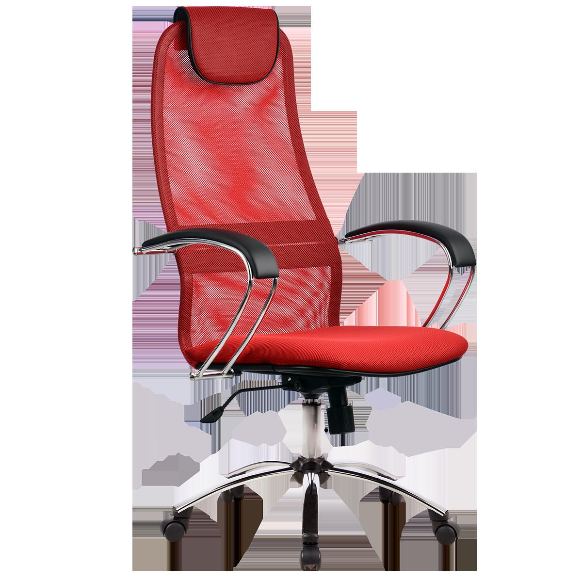 Кресло офисное Metta BK-8 CH 22 красный