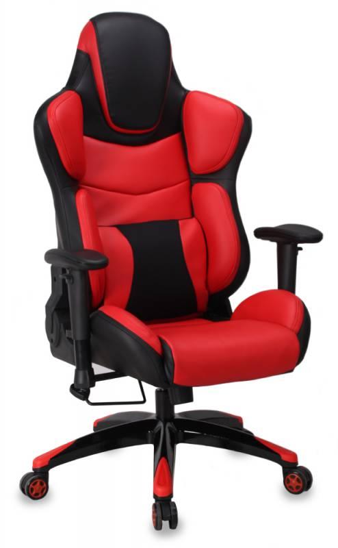 Кресло игровое Бюрократ CH-773/BLACK+R две подушки черный/красный искусственная кожа (пластик черный)