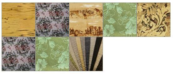 Варианты расцветок ткани