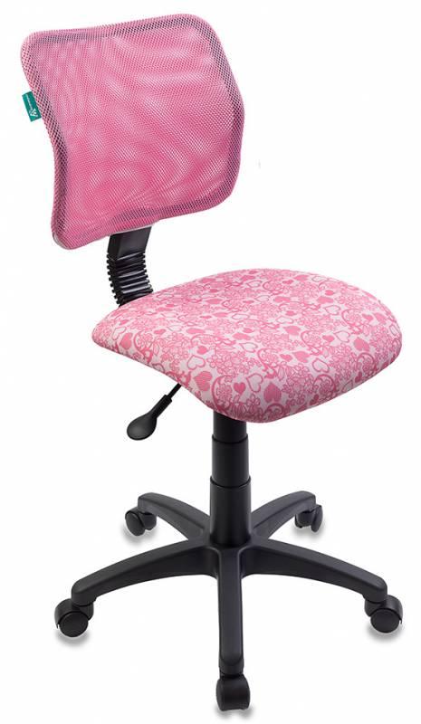 Кресло детское Бюрократ CH-295/PK/HEARTS-PK спинка сетка розовый сердца
