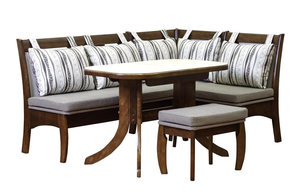 Кухонный набор КАЗАНОВА диван+стол+пуф