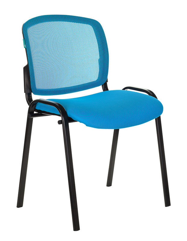 Стул Бюрократ VIKI/LB/TW-55 спинка сетка TW-31 сиденье голубой TW-55