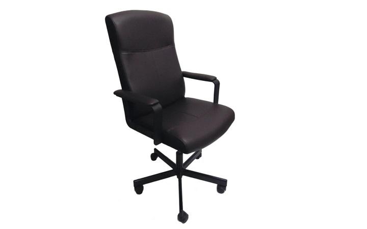 Кресло руководителя Бюрократ DOMINUS кожа