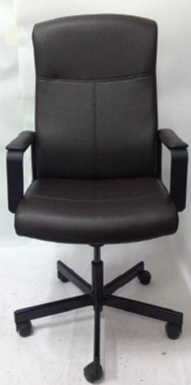 Кресло руководителя Бюрократ DOMINUS-BL черный искусственная кожа крестовина металл