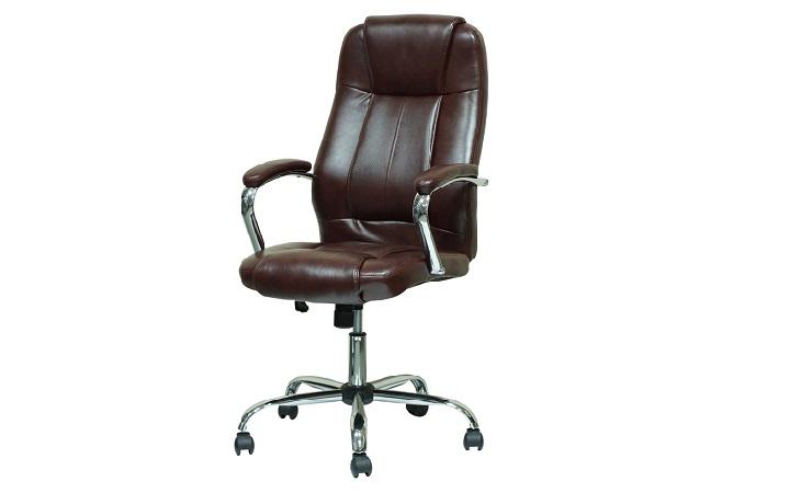 Кресло Barneo K-1 для руководителя коричневая кожа