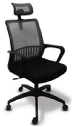 Кресло Бюрократ MC-201-H/TW-11 спинка сетка черный TW-11